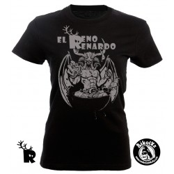 Camiseta Chica Reno Renardo Meriendacena con Satán