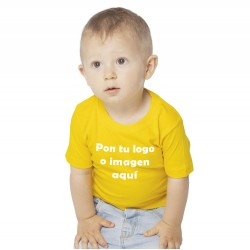 Camiseta Bebé Vinilo Manga Corta Personalizable
