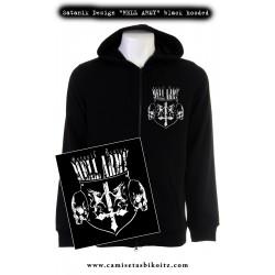 Sudadera cremallera capucha Satanik Design Hell Army